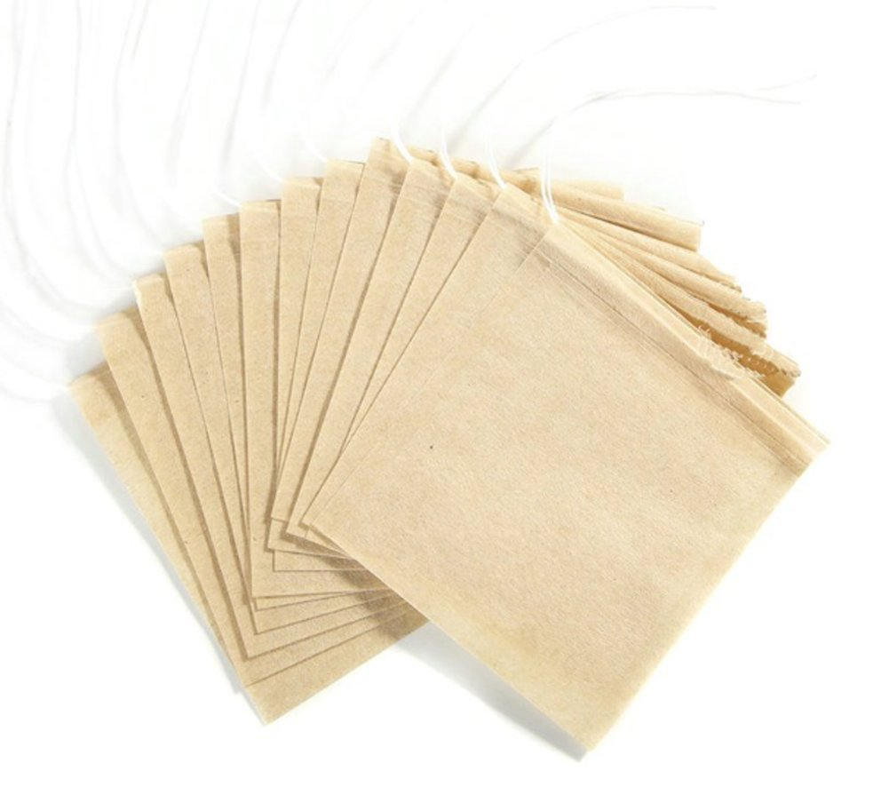 Disposable Natural Unbleached Tea Filter BagsTea Infuser Bags With Drawstring For Loose Leaf Tea (100 PCS) ASTRQLE