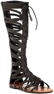 e98ec7a60ec Modern Rebel Arwen Womens Fashion Lace-Up Gladiator Sandals