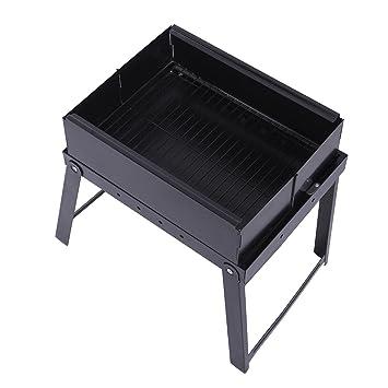 oloroast Rejilla Barbacoa a gas plegable de acero inoxidable portátil barbacoa Grill para Outdoor Camping cookouts