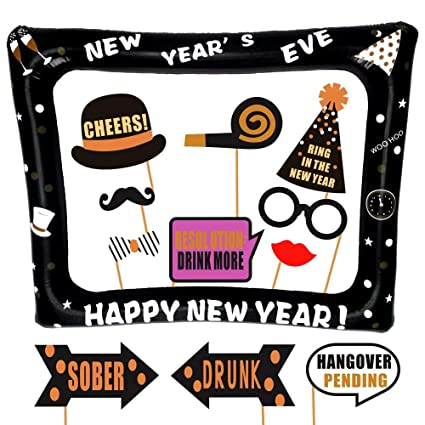 new years eve inflatable frame and photo booth props no diy required attached to the
