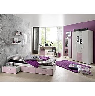Kinderzimmer Lilly | Rauch Kinderzimmer Jugendzimmer Lilly 4 Tlg Komplett Set In Weiss