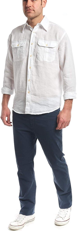 M XXL Camicia in Puro Lino S XL Bianco, Celeste, Blu Medio, Blu Scuro, Beige, Senape, Rosso Mattone, Verde Militare XXXL XXXXL Doppio Taschino in 8 Colori L