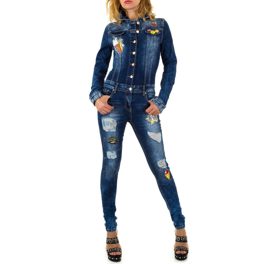 Ital-Design Jumpsuit Destroyed Jeans Overall Für Damen