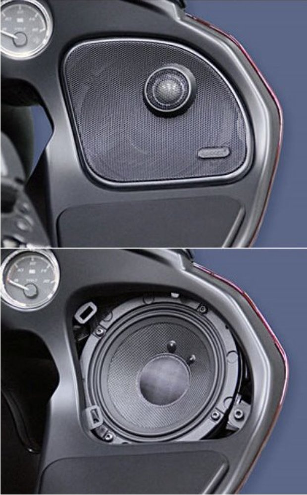 J&M Rokker XXR 6.71'' Front Speaker kit for 2015 and Newer Harley-Davidson Road Glide models - HRRK-6712TW-XXR by J&M (Image #2)