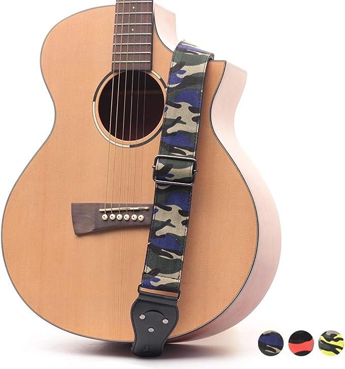 Correa de la Guitarra acústica Patrón de Camuflaje Guitarra ...
