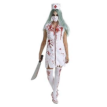 Enfermera de Hospital sangrienta Zombi Disfraz - Medio: Amazon.es ...