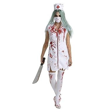 aa4ad3eeaedac Amazon.com: Womens Zombie Nurse Costume Adult Bloody Sexy Horror Quality  Dress Up for Women: Clothing