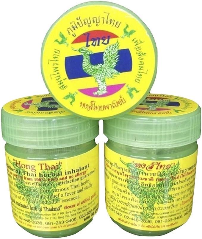 Herbal inhalant Hong Tailandia inhalant Socorro Mareo – venta juego de 3 20 G botellas