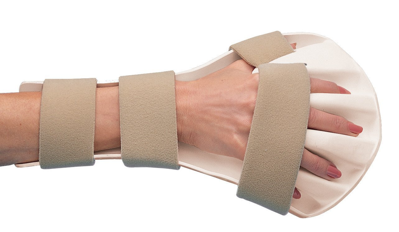 Rolyan Splinting Material, Anti-Spasticity Ball Splint for Hand, Straps Included, Right, Small by Cedarburg