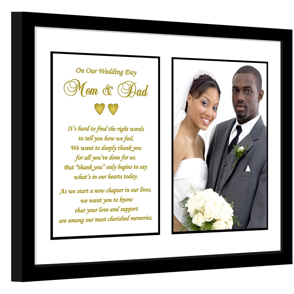 cf7e855b Amazon.com: Parent Thank You Wedding Gift – Thank You Poem From Both the  Bride and Groom in 8x10 Inch Frame - Add Photo: Home & Kitchen