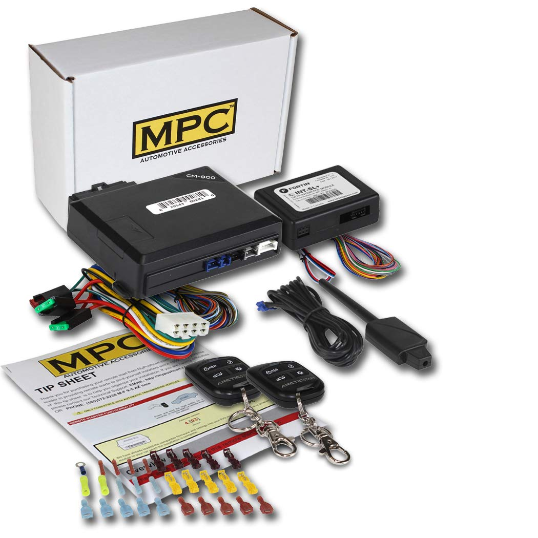 MPC Complete Remote Start Kit w/Keyless Entry for 2000-2005 Buick Lesabre - w/Bypass - (2) 4 Button 1 Way Remotes