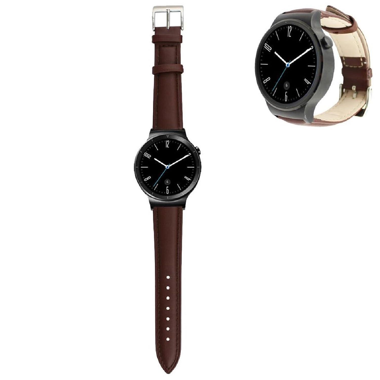 Tonsee高級本革時計バンド手首ストラップfor Huawei Smart Watch、ブラウン  B01C41T9TK