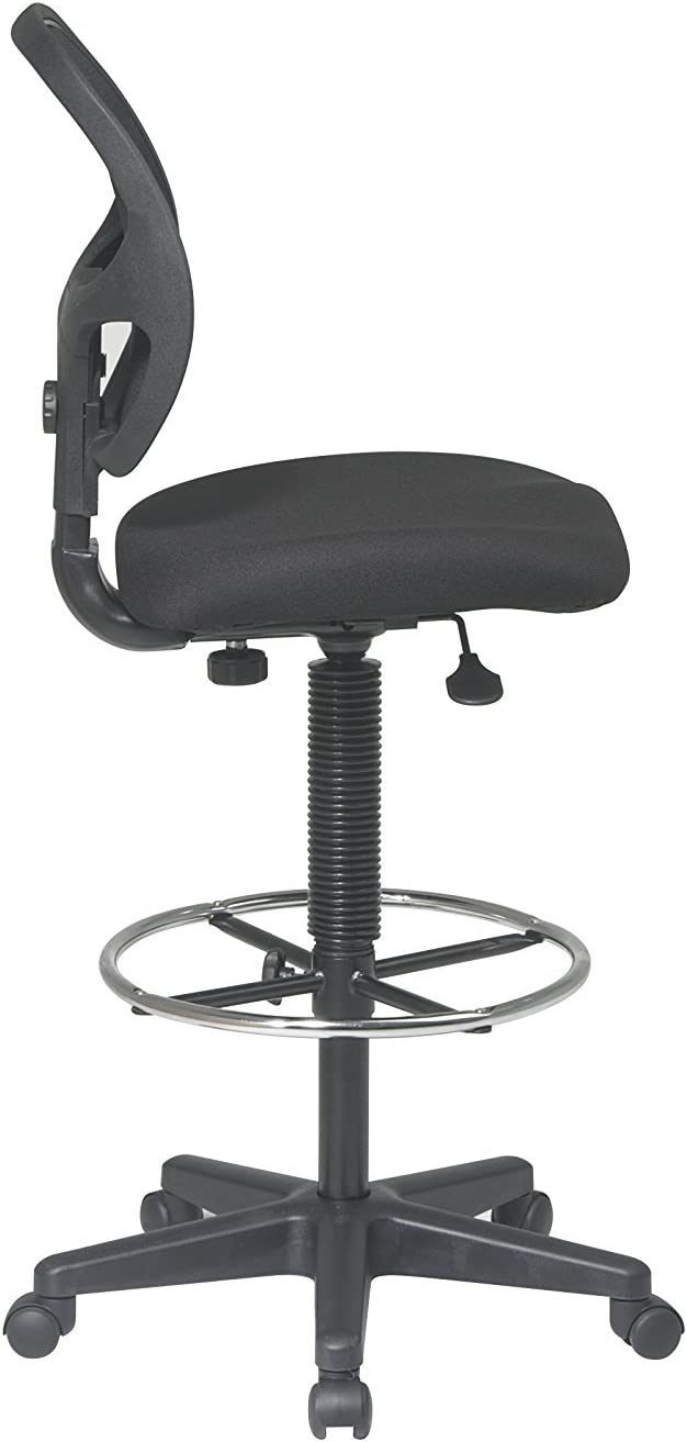 Nicer Furniture Deluxe Mid-Back Black Mesh Computer Chair Task Desk Chair Ergonomic Chair with Footring