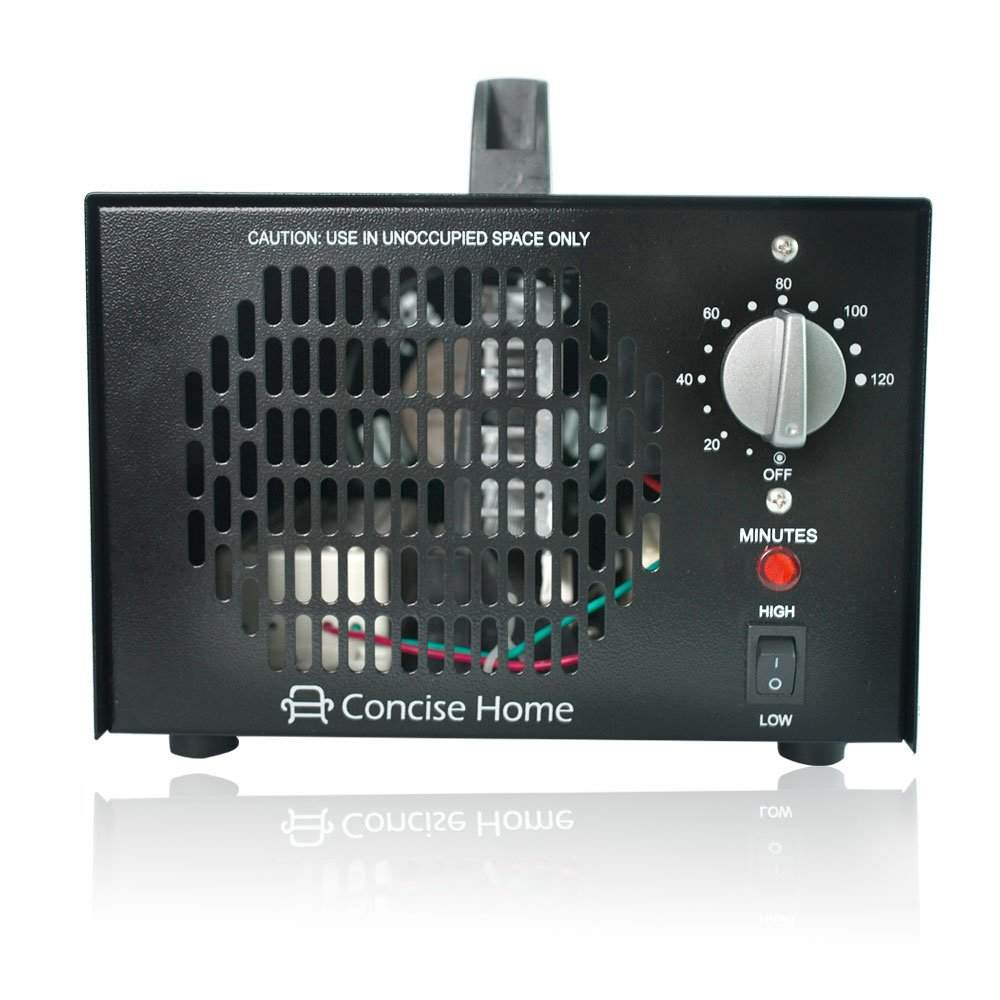 High 5 Ace Sea Commercial Ozone Generator 7000mg Industrial O3 Air Purifier Black Deodorizer Sterilizer