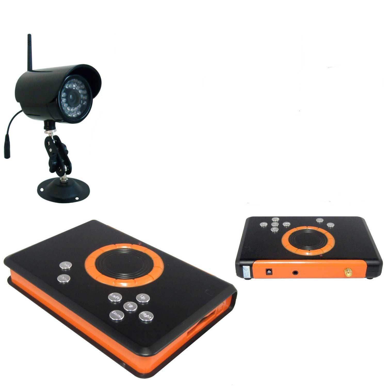 2015年ワイヤレス防犯カメラ+受信機セット!! 手のひらサイズの受信機をテレビに差すだけで監視可能!! SDカードへの録画出来ます。 動体検知モード夜間赤外線機能等、多機能搭載の新型無線式防犯ビデオカメラセット (カメラ1台セット) B01G6C80HU  カメラ1台セット