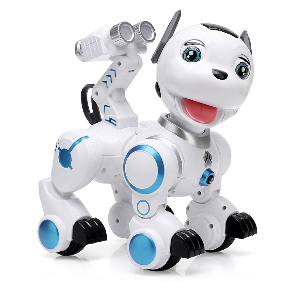 Yeezee Wirless Robot Puppy, Kid's Interactive Patrol Pup with Cannon Ejector, Walking, Blink, Shake Head,Touch Response, Dancing, Walking, Turning Around