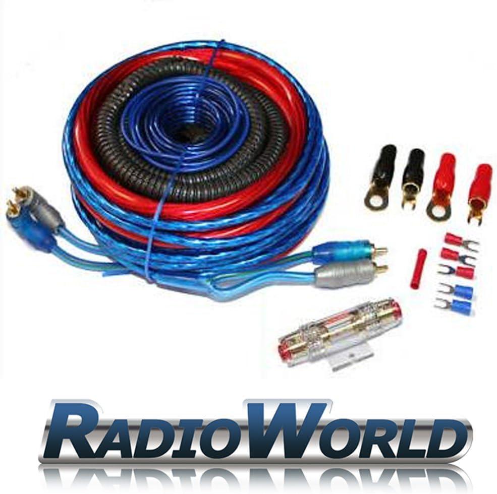 8 meter 20mm Kabel AGU Sicherungshalter mit 60 A Sicherung Carhifi KFZ Power Set