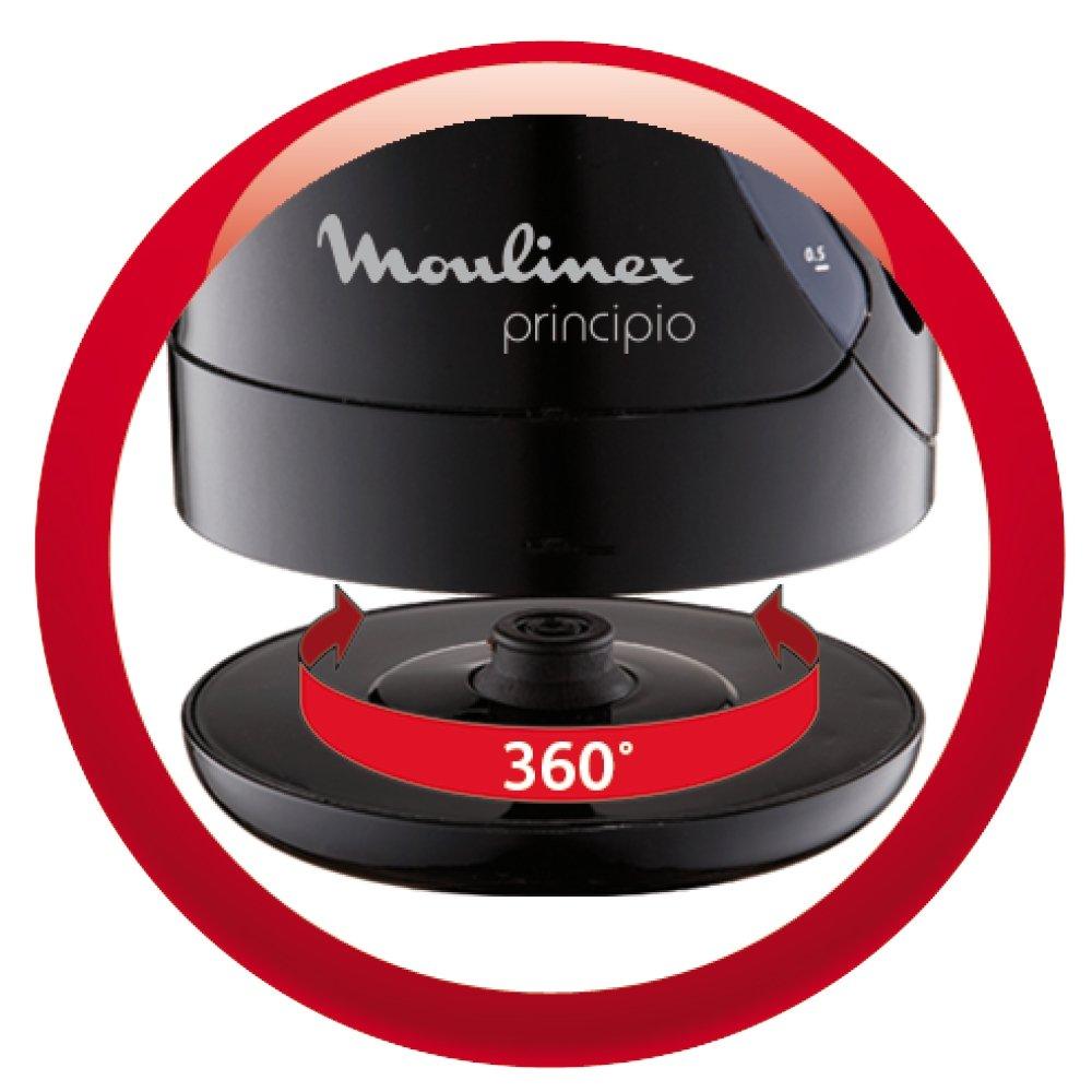 Moulinex Principio BY107815 Hervidor, 1,2 l, Resistencia Oculta, Filtro Anti-impurezas, 2200 W, Negro: Amazon.es: Hogar