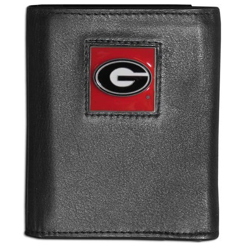 Leather Bulldogs Georgia - NCAA Georgia Bulldogs Leather Tri-Fold Wallet