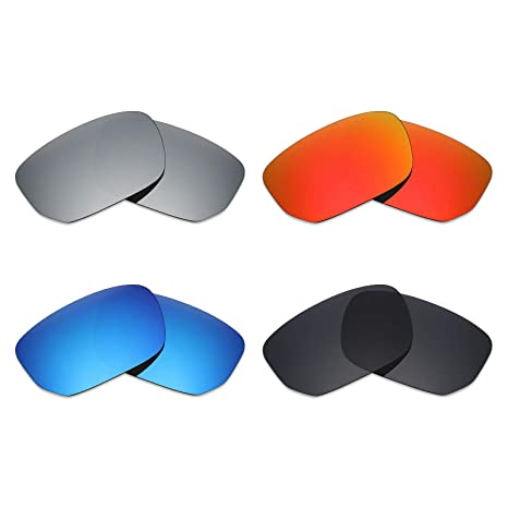 26daddd9bd Image Unavailable. Image not available for. Color  Mryok 4 Pair Polarized  Replacement Lenses for Oakley Style Switch Sunglass - Stealth Black Fire