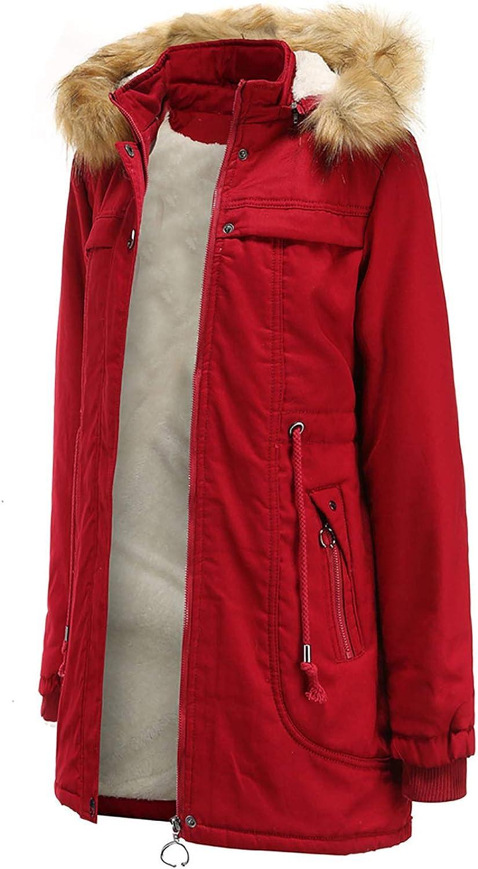 2021 Neue Baumwollmantel Damen mit Kordelzug Plus samtwarme Herbst Winter Kurz Pullover Abnehmbar Pelzkragen Warm Oberteile Parka Steppjacke Mode Outwear Red
