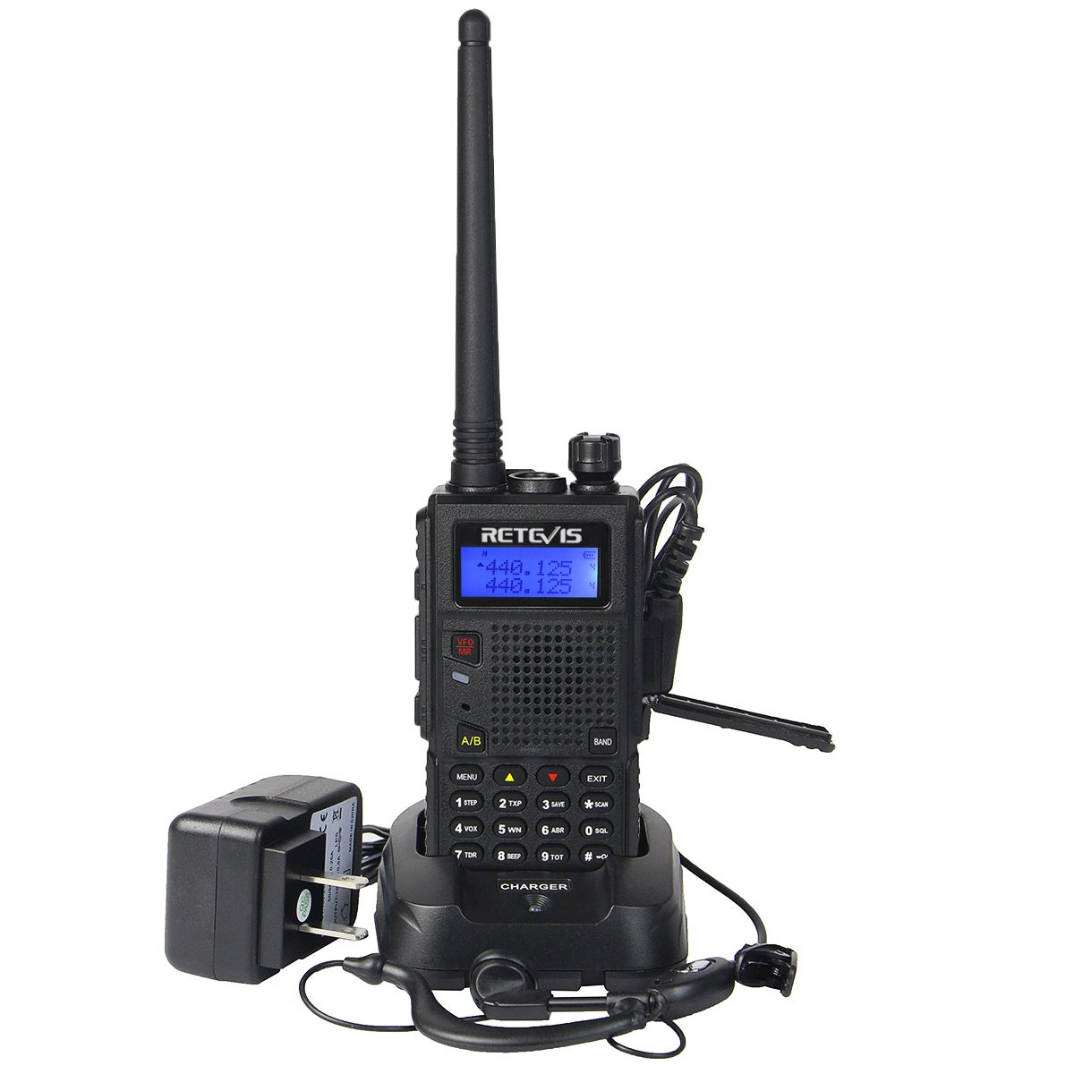 1 Pack Retevis RT5 Two Way Radio with 128 Channels VHF//UHF Dual Band Scan VOX DTMF FM Car Charging Walkie Talkie 568722C053B7C030