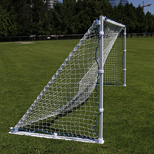 SharpShooter, Portable, Aluminum Soccer Goal - Width changes from 4'x8' to 4'x6' to 4'x4' on the fly. Great for Kids to Professional Level - Kit includes Carry Bag, Net and Collapsible Aluminum Frame