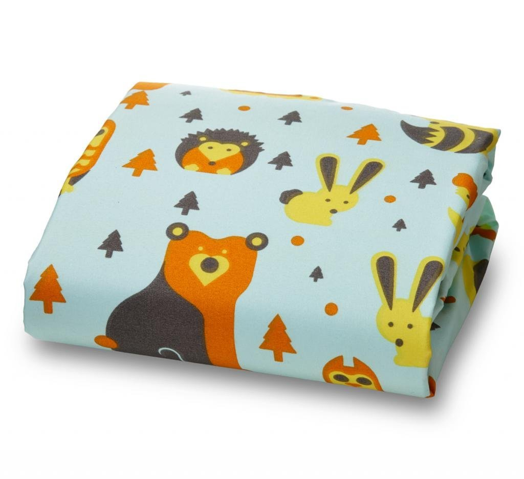 Amadora Brushed Ultra Microfiber Woodland Luxury Fitted Crib Sheet for Boys and Girls -Fox and Owl- Crib Sheet Is Made From Super Soft and Gentle Microfiber That Is As Soft As 1500 Thread Count Cotton, Making It Perfect for Delicate and Sensitive Baby Skin
