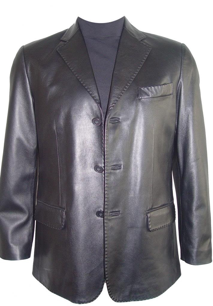 Johnnyblue Men 1021 Big Long Tall All Size Lamb Fine Leather Blazer