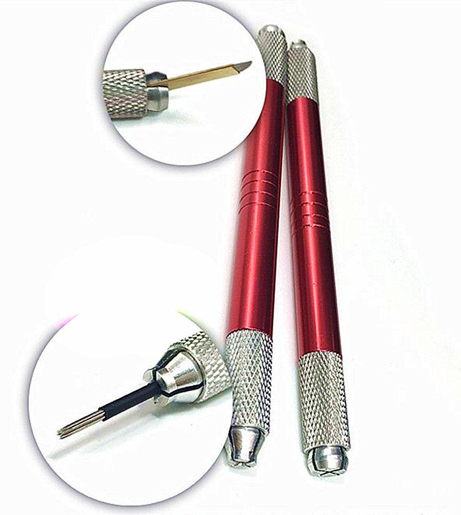 Dual-head Professional Permanent Makeup Manual Eyebrow Tattoo Pen Red Moyishi