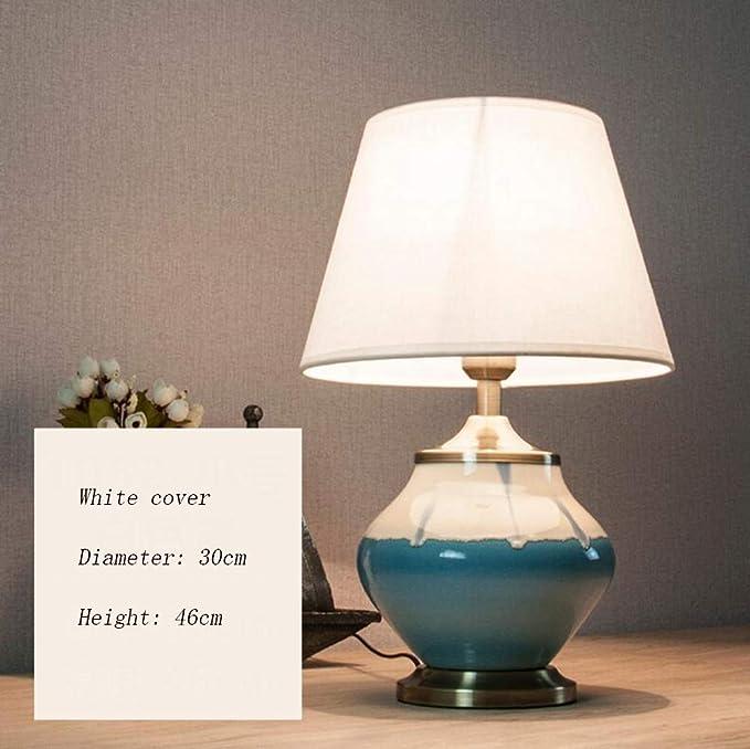 Amazon.com: Ceramic Table Lamp, Retro Bedroom Bedside Table ...