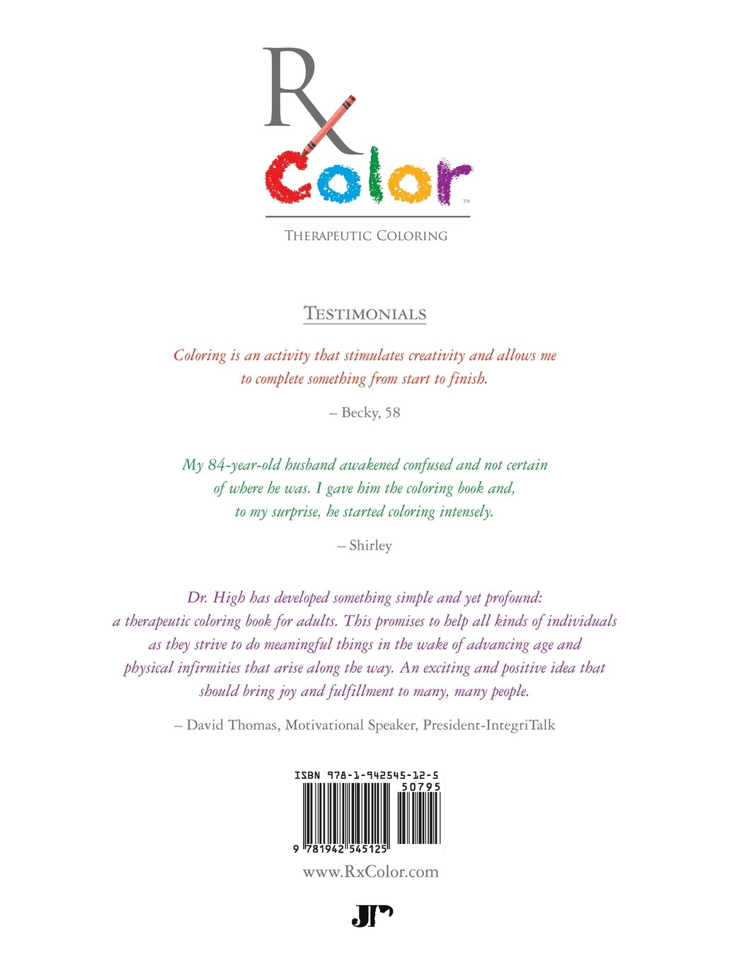 Anatomy coloring book for health professions - Rx Color Therapeutic Coloring Book For Adults Shyla T High 9781942545125 Amazon Com Books