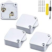 WZYTEU 4 stuks deurcontactschakelaar, 250 V kastschakelaar voor kast, meubeldeur om de elektrische steekschakelaar te…