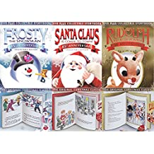 Original Christmas Storybook Collection Classics Rudolph & Frosty the Snowman + Santa Claus is Comin to Town DVD Animated Special Holiday Cartoons Collectors Editions 3-pack