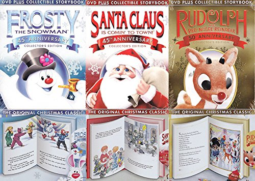 Original Christmas Storybook Collection Classics Rudolph & Frosty the Snowman + Santa Claus is Comin to Town DVD Animated Special Holiday Cartoons Collectors Editions 3-pack (A List Of Christmas Songs)