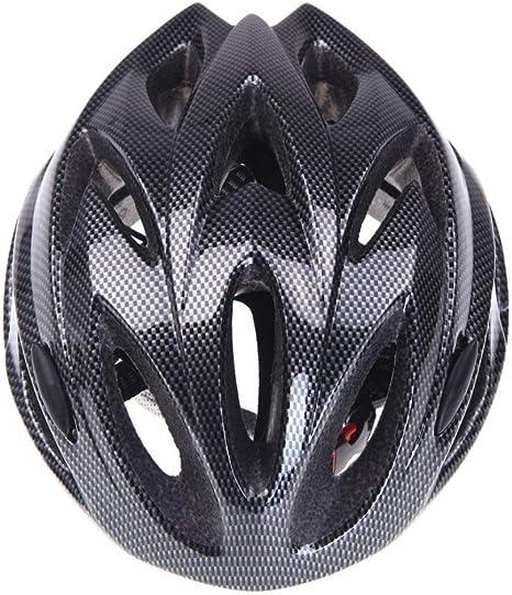 HLOEC Cascos de Bicicleta Negro Mate Hombres Mujeres Casco de ...