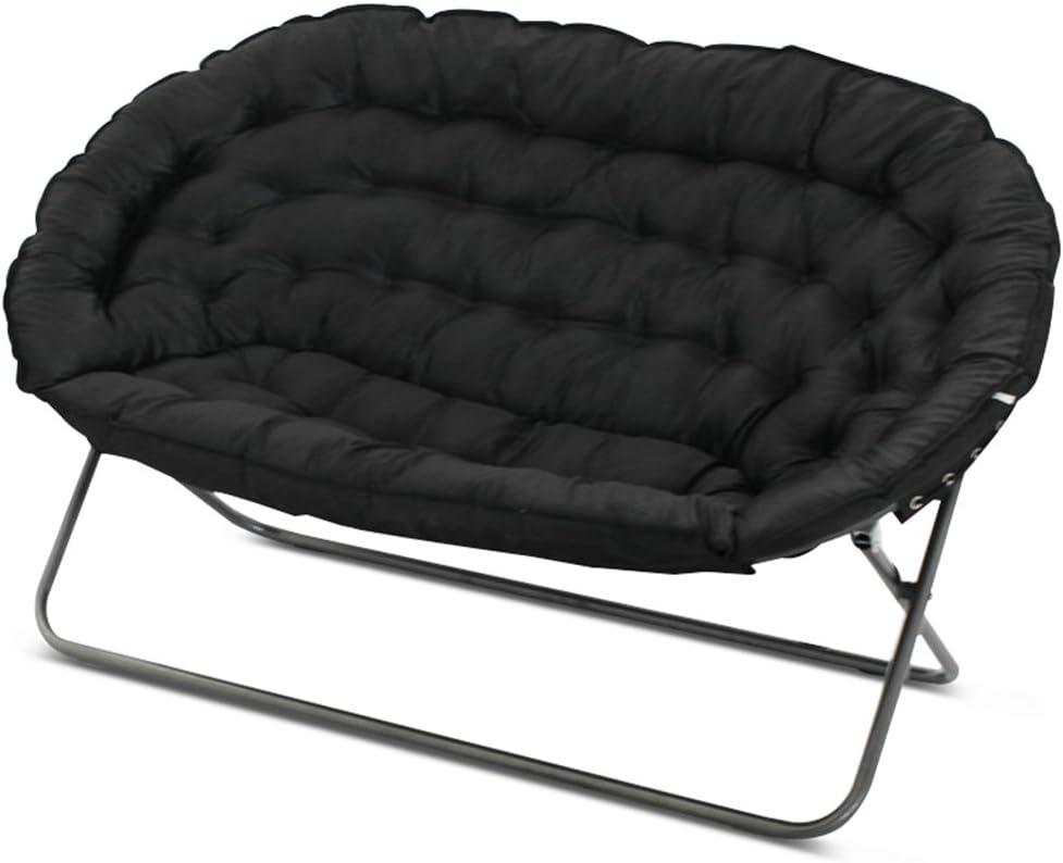 Lazy sofa Divano Pigro Pieghevole Camera da Letto Soggiorno Mini Bello Balcone Tempo Libero reclinabile Doppio LI Jing Shop Colore : Marrone Scuro