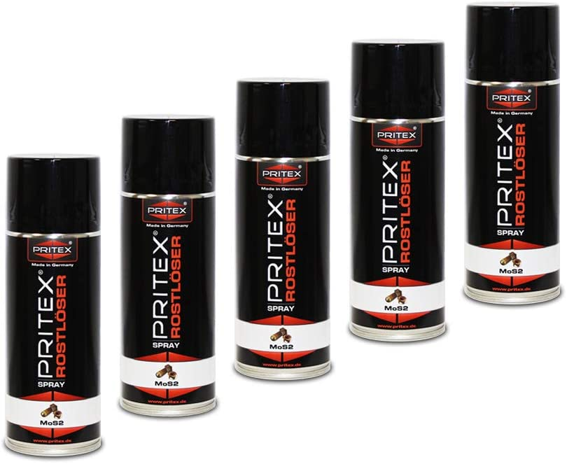 Rostlöser Spray 5 X 400ml Mos2 Rostlöserspray Kriechöl Hochwertiger Schmiermittel Baumarkt