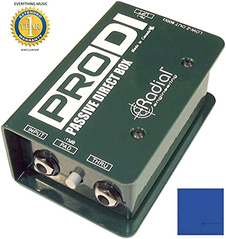 Radial Engineering Caja directa pasiva R800 1100 Prodi solo canal ...