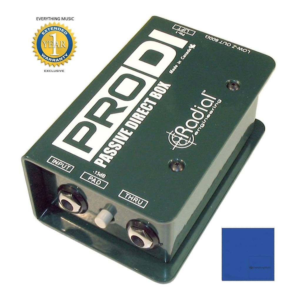 Radial Engineering R800 1100 ProDI Single Channel Passive Direct Box with 1 Year Free Extended Warranty