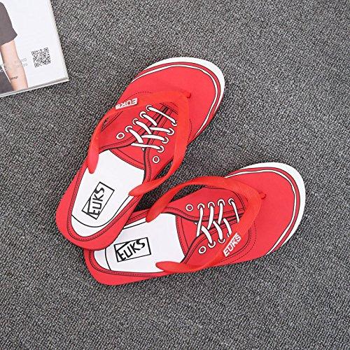 Xing Lin Sandalias De Hombre Flip-Flops Hombres Verano Wearable Hombres Zapatillas De Playa En Verano, Patinaje Patín Zapatos Tendencias Sandalias Casuales Hombres red