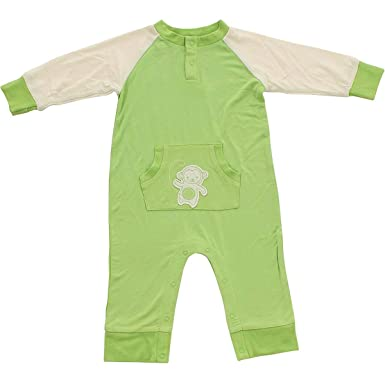 0a61550e7 Amazon.com  Silkberry Baby Bamboo Long Sleeve Romper Pistachio ...