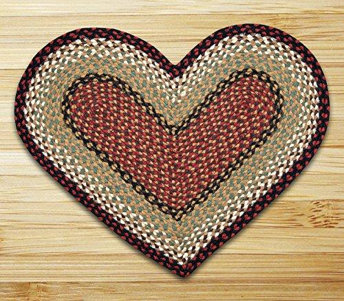 (Earth Rugs 10-019 Hc-019 Heart Shaped Rug, 20 by 30