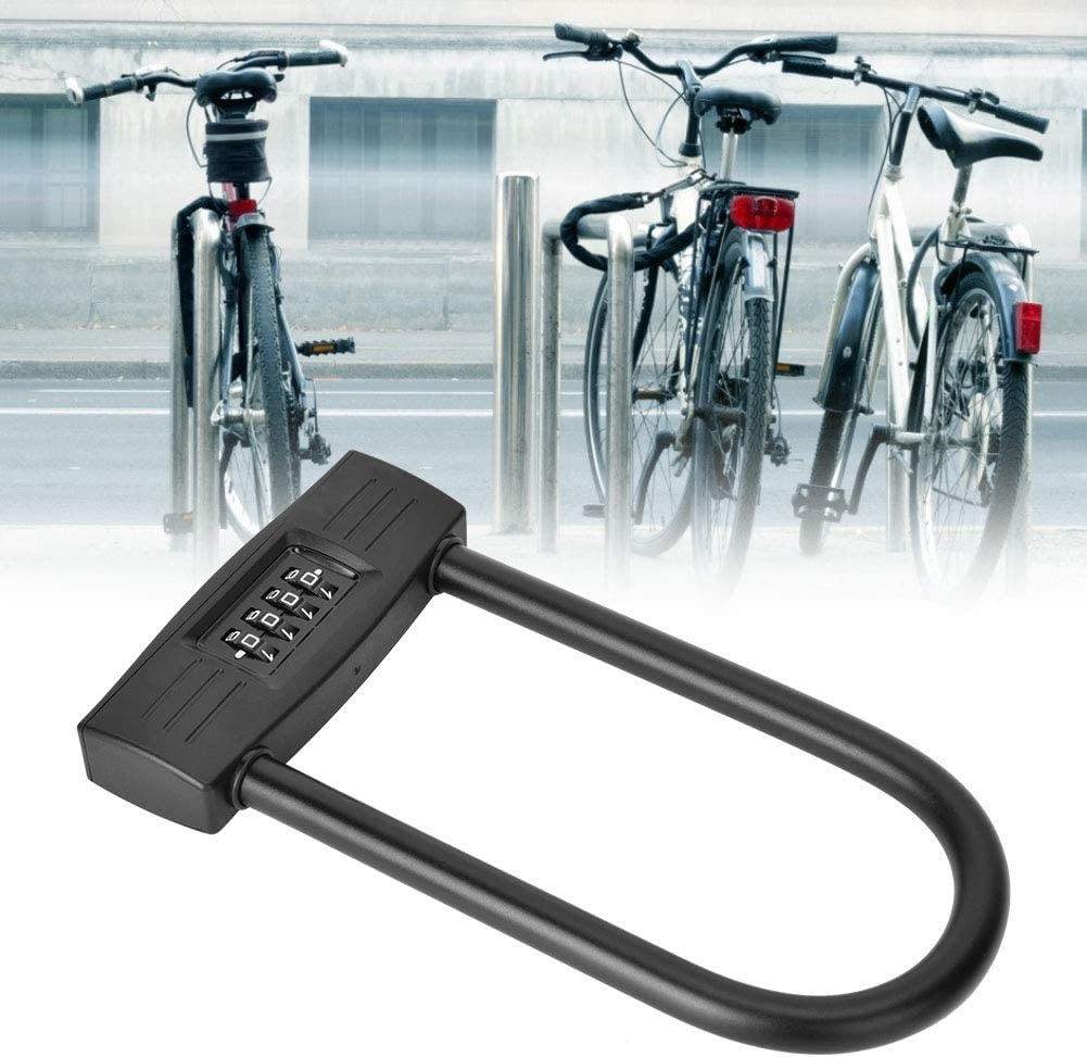 Anti-Theft Security Digit Combination Padlock Coded for Lock Bicycle//Motorcycle//Door U-Type 4 Digit Combination Password