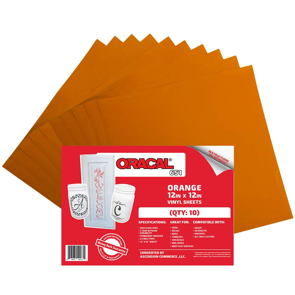 Oracal 651 Orange Adhesive Craft Vinyl For Cricut 1000 Images About Circuit Projects On Pinterest Silhouette Cameo 10 Sheets Arts Crafts Sewing