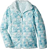 The North Face Girl's Reversible Mossbud Swirl Jacket - White Snowflake Fair Isle Print - XS (Past Season)