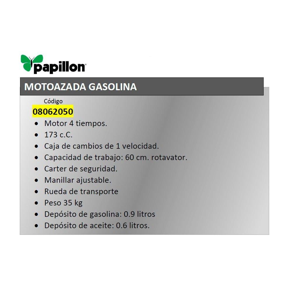 Motoazada Gasolina Papillon 173 C.C. 60 Cm: Amazon.es ...