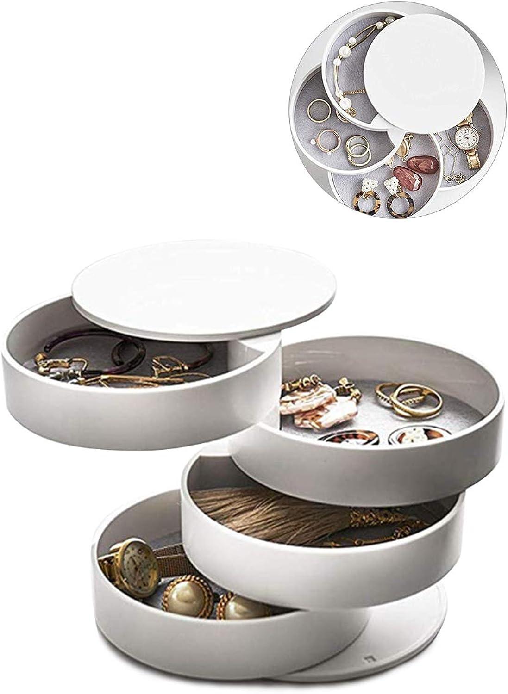 avec miroir Hocaies Boite de Rangement Bijoux Utilis/é pour Stocker Boucles dOreilles Bijoux et Petits Objets pour Femme Petite Fille