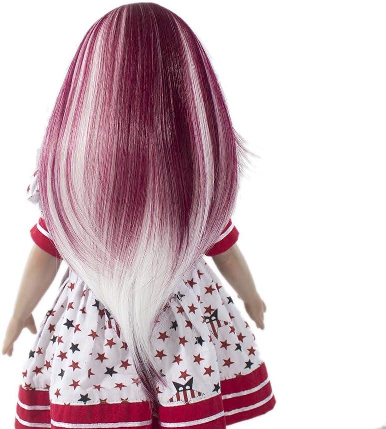 Dolls DIY Curly// Straight Wig Heat Resistant Hair for 18/'/' Dolls