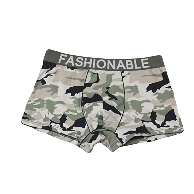 authentic quality durable modeling many fashionable IHGTZS Men's Camouflage Soft Briefs Underpants Knickers ...
